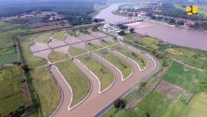 Salah satu irigasi yang dibangun pemerintah. (Foto: Dokumentasi Kementerian PUPR)