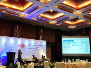Suasana Workshop Publikasi International Monetary Fund-World Bank Group Annual Meetings 2018 , di Gedung Juanda, Kemenkeu, Jakarta, Kamis (6/9) pagi. (Foto: Dinda M/Humas)