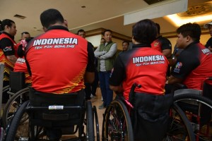 Minister of Youth and Sport visits Asian Para Games Athletes in Bengawan Sport Center Solo, Central Java, Thursday (9/13). (Photo: Public Relations of Ministry of Youth and Sport)