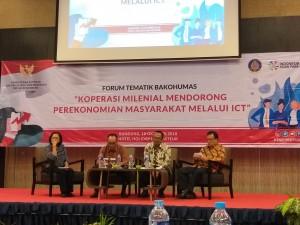 Forum tematik Bakohumas yang digelar Kementerian Koperasi dan UKM, di Holiday Inn Hotel, Bandung, Jabar, Kamis (18/10) pagi. (Foto: Mita A./Humas)