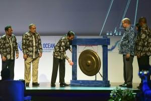 Presiden Jokowi membuka Our Ocean Conference (OOC) 2018, di BNDCC, Kabupaten Badung, Bali, Senin (29/10) pagi. (Foto: OJI/Humas)