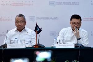 Mendes PDTT dalam forum evaluasi 4 tahun kinerja pemerintahan Presiden Jokowi-Joko, Rabu (24/10). (foto: Humas/Oji)