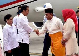 President Jokowi, Sunday (7/10), arrives at North Sumatra Province for a working visit (Photo: BPMI)