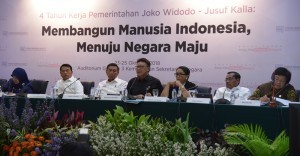 Minister of Home Affairs Tjahjo Kumolo at a press conference on 4-Year Report of President Joko Widodo-Jusuf Kalla Administration, in Jakarta, Thursday (25/10). (Photo: Deny S/PR)