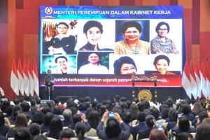 Presiden Jokowi memberikan sambutan pada Pembukaan Kongres XX Tahun 2018 WKRI, di Magnolia Grand Ballroom Hotel Grand Mercure, Superblok Mega Kemayoran, Jakarta, Selasa (30/10) pagi. (Foto: JAY/Humas)