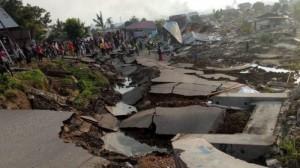 Salah satu sudut kota Palu yang rusak berat akibat gempa bumi dan tsunami yang terjadi Jumat (28/9) lalu. (Foto: IST)