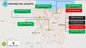 Sebaran lokasi tes SKD CPNS di DKI Jakarta