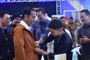 President Jokowi attends the 2018 IdeaFest at the JCC, Jakarta, Friday (26/10). Photo by: Oji/Public Relations Division of Cabinet Secretariat.