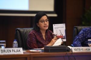 Minister of Finance explains Regulation of the Minister of Finance (PMK) Number 35/PMK.010/2018 at the office of Ministry of Finance, Jakarta, Thursday (18/10).  Photo by: Public Relations Division of Ministry of Finance.