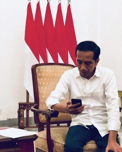 President Jokowi. Photo by: twitter @jokowi