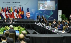 President Joko Widodo attends the 6th ASEAN – US Summit, at the Suntec Convention Centre, Singapore, Thursday (15/11). (Photo by: BPMI)