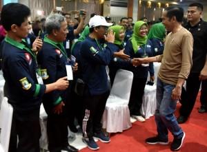 Presiden Jokowi saat acara Pertemuan Kabupaten/Kota Sehat tahun 2018, di Kantor Wali Kota Tangerang, Minggu (4/11). (Foto: Humas/Rahmat)