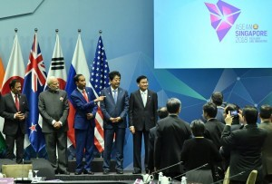 President Jokowi attends the East Asia Summit, at the Suntec Convention Center, Singapore, Wednesday (15/11). (Photo by: BPMI Presidential Secretariat)