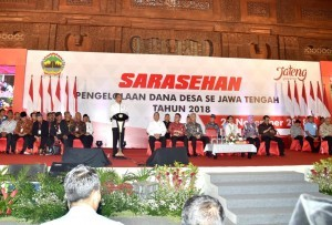 President Jokowi on the 2018 Village Fund Management Workshop in Central Java at the Development and Promotion Center Building (PRPP), Semarang, Thursday (22/11). (Photo by: BPMI)
