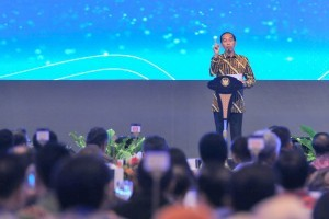 President Jokowi delivers remarks at 2018 BI Annual Meeting at JCC Jakarta, Tuesday (27/11). (Photo: JAY/PR)