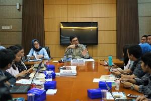 Sekjen Kemenkeu Hadiyanto menyampaikan keterangan pers di Ruang Press Kemenkeu, Jakarta, Rabu (14/11). (Foto: Humas Kemenkeu)