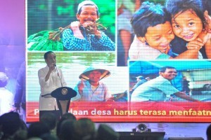 President meets with village facilitators at Froggy Field, Foresta Business District, Tangerang, Banten, Sunday (4/11) (Photo: PR/Jay)