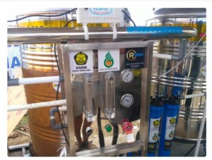 Bantuan water treatment dari Kementerian ESDM untuk pengungsi Sulteng. (Foto: Kementerian ESDM)