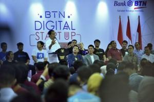 Presiden Jokowi membuka Digital Startup 2018 di Kartika Expo, Balai Kartini, Setiabudi, Jakarta Selatan, pada Jumat (7/12) pagi. (Foto: Fitri/Humas)