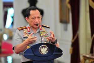 Kapolri Jenderal Tito Karnavian menyampaikan keterangan pers di Istana Merdeka, Jakarta, Rabu (5/12) siang. (Foto: JAY/Humas)