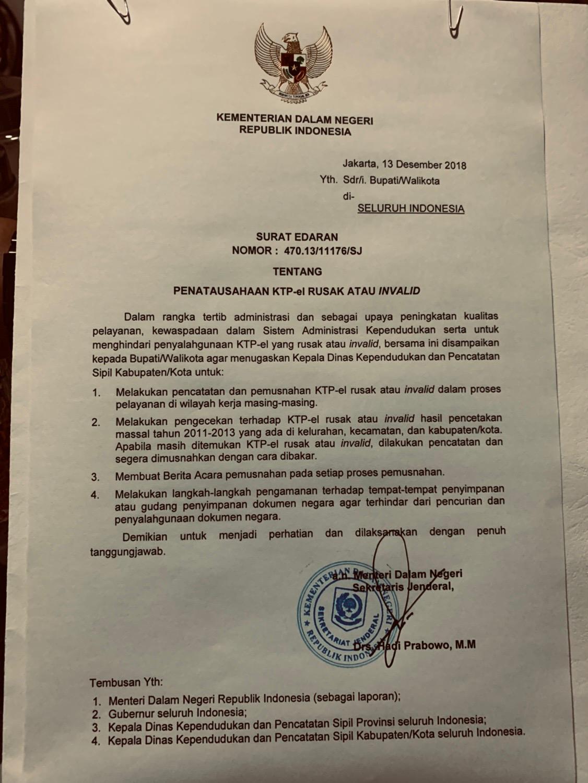 34++ Contoh surat edaran menteri dalam negeri terbaru yang baik