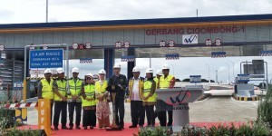 President Jokowi on Saturday (12/1) at the Cigombong 1 toll gate, Bogor, West Java, inaugurates Ciawi-Sukabumi Toll Road Section I spanning from Ciawi to Cigombong.. Photo by: IST