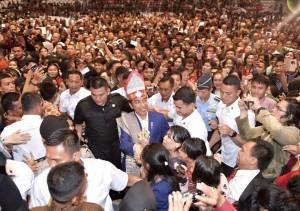 President Jokowi attends the 2018 National Christmas Celebration in Deli Serdang, North Sumatra, Saturday (29/12). Photo by: BPMI