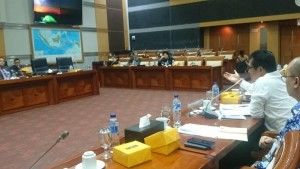 The hearing with Commission I of the DPR atmosphere in Jakarta, Monday (21/1). (Photo by: Ministry of Religious Affairs PR).