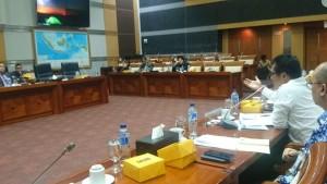 Suasana Rapat Dengar Pendapat Komisi I DPR dengan Kemenag, Kemenkumham, Kemlu, dan BKPM, di Jakarta, Senin (21/1) kemarin. (Foto: Humas Kemenag)