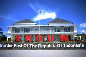 Salah satu PLBN Terpadu yang telah dibangunan di perbatasan Indonesia - Papua Nugini. (Foto: IST)