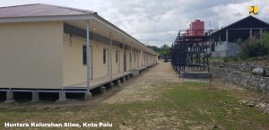 Temporary Shelters in Palu, Central Sulawesi. Photo by: Ministry of Public Works and Public Housing.