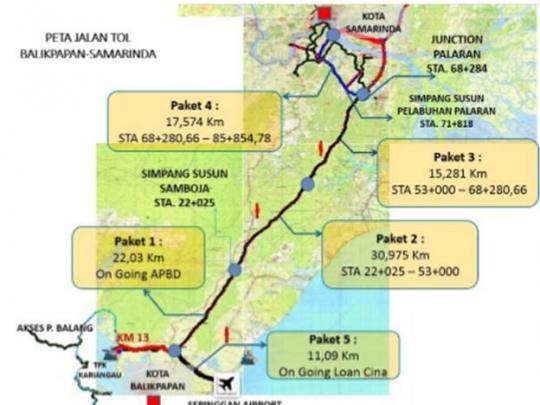Section I-III of Balikpapan-Samarinda Toll Road to Operate in March ...