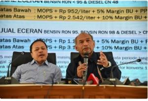 Dirjen Migas Kementerian ESDM Djoko Siswanto, memberikan keterangan pers di Gedung Kementerian ESDM Jakarta (10/2). (Foto: Kementerian ESDM).