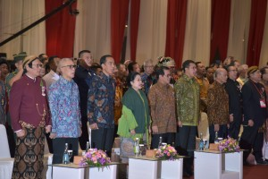 Presiden Jokowi menghadiri perayaan Imlek Nasional 2019, di JI Expo Kemayoran, Jakarta, Kamis (7/2) siang. (Foto: OJI/Humas)