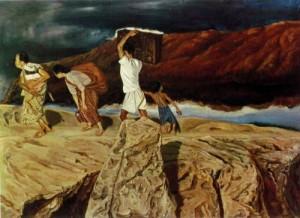 S.Sudjojono (1948), Mengungsi (105 X 145 cm)
