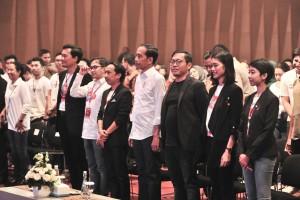 President Jokowi attends 2019 Terampil Festival, Kota Kasablanka, Jakarta, Saturday (9/2). (Photo by: Jay/Public Relations Division)