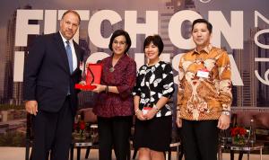Menkeu Sri Mulyani Indrawati menghadiri acara Fitch Ratings Fitch on Indonesia 2019, di Mandarin Hotel, Jakarta, Rabu (20/3). (Foto: Humas Kemenkeu)