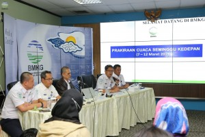 The Climatology the Meteorology, Climatology, and Geophysics Agency (BMKG) press conference on the Dry Season Predictions in Jakarta, Wednesday (6/3). (Photo by: The BMKG PR).