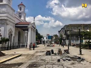 Kawasan Kota Lama Semarang yang kini dalam tahap pentaan. (Foto: BKP Kementeriam PUPR)