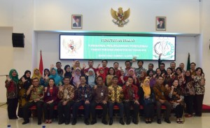 Deputy to Cabinet Secretary for Cabinet Work Support attends closing ceremony of First Level Functional Translator Education and Training in East Jakarta, Friday (12/4). Photo by: PR/Oji.