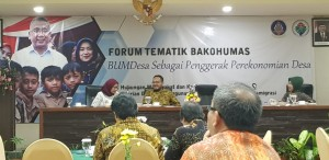 "Public Relations Coordinating Board Thematic Forum with theme ""BUMDes as Village Economic Driver"" at Savana Hotel and Convention, Malang, East Java, Wednesday (24/4). (Heni/PR)"
