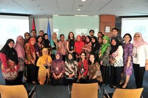 Peserta diklat saat mengunjungi Kantor UN Information Center di Lantai 7, Menara Thamrin, Jakarta, Selasa (9/4). (Foto: Humas/Jay).