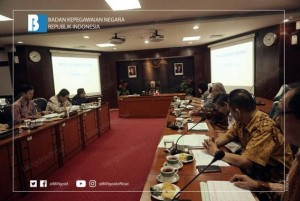 Personnel Advisory Agency (BAPEK) meeting at the central Civil Service Agency (BKN) office, Jakarta, Thursday (11/4). (Photo: BKN Public Relations)