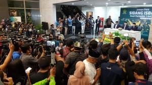 Jumpa pers penentuan 1 Ramadan 1440 Hijriah di Kantor Kemenag, Jakarta, Minggu (5/5). (Foto: Humas Kemenag).
