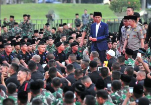 President Jokowi on the iftar event at the National Monument Field, Medan Merdeka, Central Jakarta. (Photo by: Rahmat/PR).