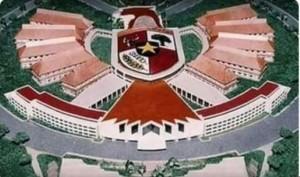 Desain Istana Negara di Palangkaraya yang dinyatakan Kementerian Kominfo sebagai hoaks. (Foto: IST)