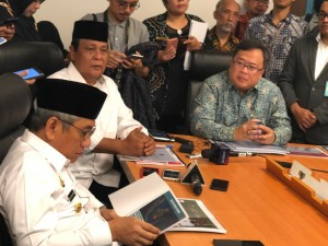 A Governor states the readiness of his region to be the new capital city in a discussion held in Jakarta, Monday (6/5) (Photo: PR/KSP)