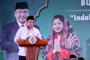 Mendes PDTT Eko Putro Sanjojo saat memberikan sambutan pada buka puasa di kantor Kemendes PDTT, Jakarta, Selasa (21/5) petang. (Foto: Humas Kemendes PDTT)
