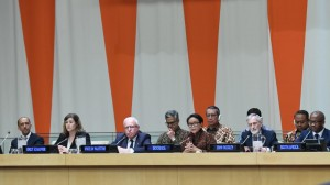 Minister of Foreign Affairs Retno Marsudi leads the Arria-Formula meeting, in New York, the US, Thursday (9/5). (Photo by: Ministry of Foreign Affairs PR).