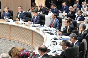 Presiden Jokowi menghadiri KTT G-20, di Osaka, Jepang, Jumat (28/6) siang. (Foto: Setpres)